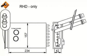 NRF 58638 Radiador de calefacci/ón