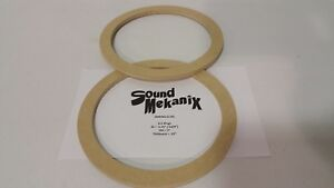 """6 1//2/"""" MEDIUM Size 1/"""" Thick One Pair Made In USA MDF Speaker Spacer Rings"""