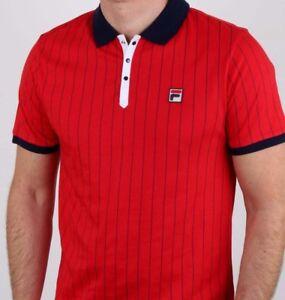 8856029406 Fila Vintage Red Polo 2019 - Ltd - Bjorn Borg - Retro Tennis Shirt ...