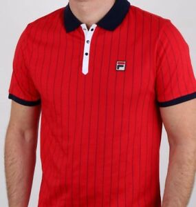 34f473476e Fila Vintage Red Polo 2019 - Ltd - Bjorn Borg - Retro Tennis Shirt ...