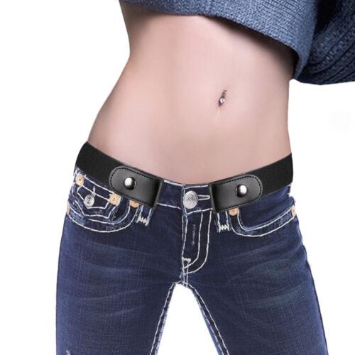 Unisex Buckle-Free Belt No Buckle Elastic Stretch Waist Belts Jean Pants K9pn
