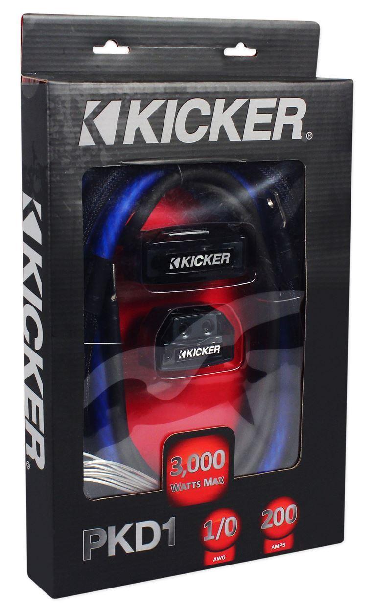 Kicker Pkd1 1 0 Awg Gauge Dual Car Amp Installation Wire Kit Amplifier Wiring Install