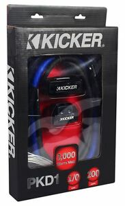 kicker pkd1 1 0 awg gauge dual car amp installation wire kit rh ebay com Kicker 4 Channel Amp Wiring Kicker 10-Gauge Amp Kit