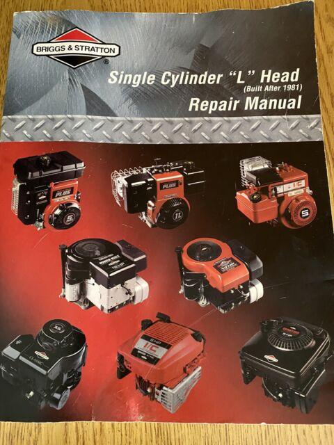 Briggs And Stratton Single Cylinder  U201cl U201d Head Repair Manual