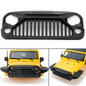 1PC Air Inlet Vent Grille Front Face w//Mesh for 1//10 RC SCX10 Jeep Wrangler Car