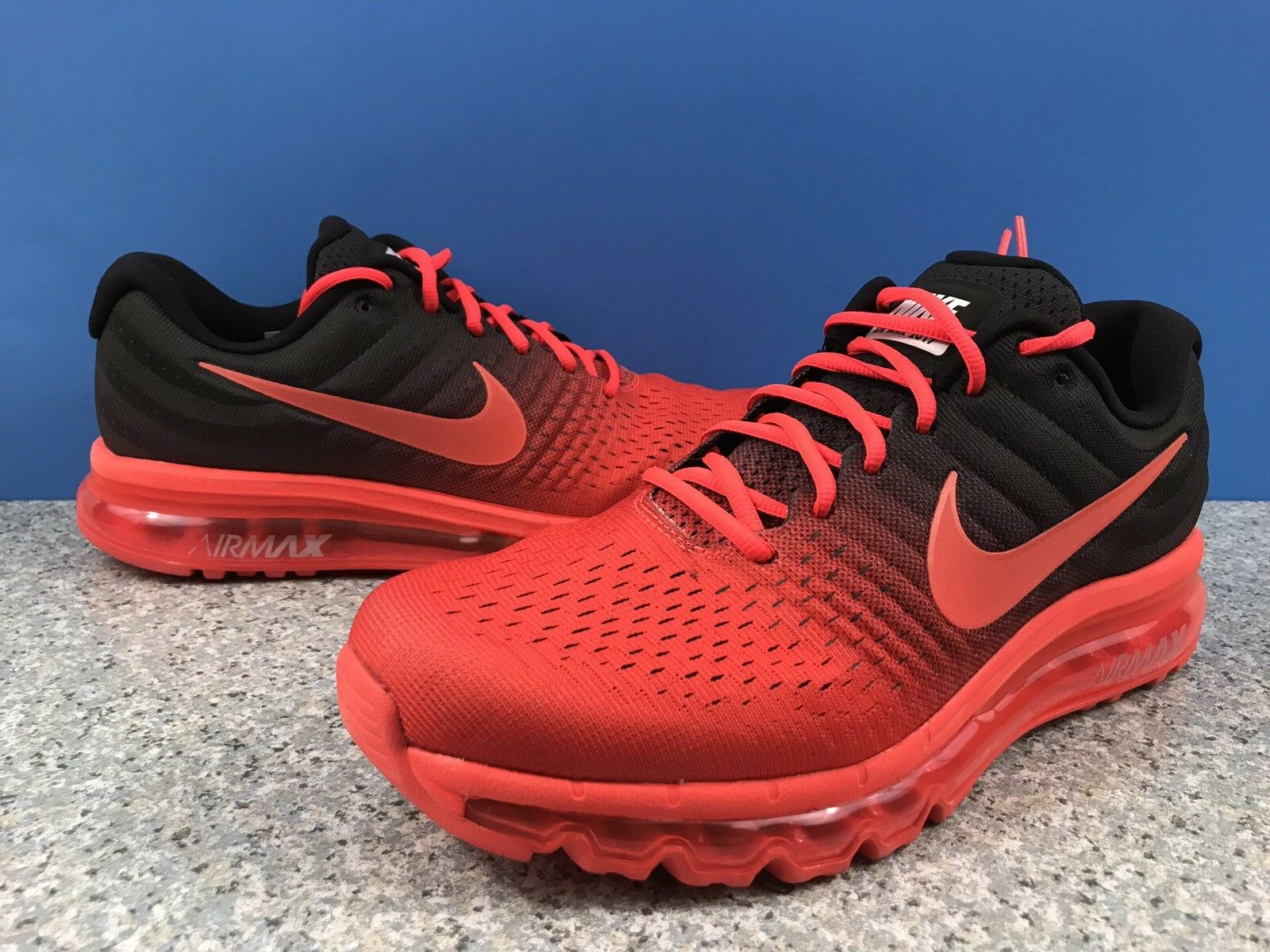 Nike Air Max 2017 Bright Crimson Total Crimson Black SZ 14 849559-600