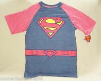 Halloween Superman Youth Boys Costume T-shirt (size Small)