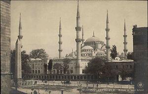 Konstantinopel-Istanbul-AK-1910-Mosquee-du-Sultan-Achmet-Partie-an-der-Moschee