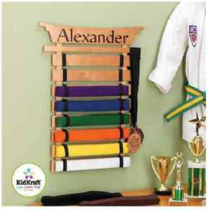 Karate Martial Arts Belts Holder Judo Rack Wall Display Kung Fu Organize Storage