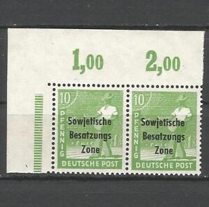 Sovietica-zona-di-occupazione-a-operai-SERIE-COPPIA-n-185-a-Post-freschi-esaminati