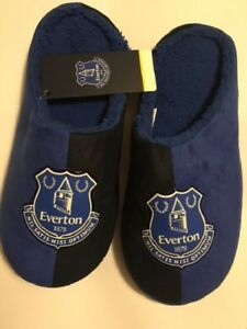 OFFICIAL LICENSED NEW EVERTON FC MULE SLIPPERS ADULTS  CHOICE OF SIZES