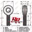 "7//8/""-14 Thread x 7//8/"" Bore Fits 1-1//2/"" x.120 Tube Chromoly Panhard Rod Ends"