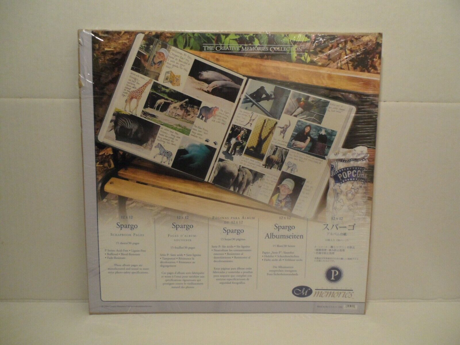 Creative Memories 12x12 Natural Scrapbook 15 Pages Refill New Sealed 2004