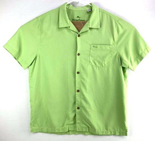 TOMMY BAHAMA Royal Bermuda Island Zone Mens XL Hawaiian Camp Shirt Mint Green