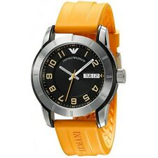 Emporio Armani AR5872 Men's Stainless Steel Case Silicon Strap Quartz Watch