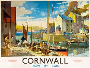 TU83-Vintage-Cornwall-British-Railway-Travel-Poster-Re-Print-A2-A3
