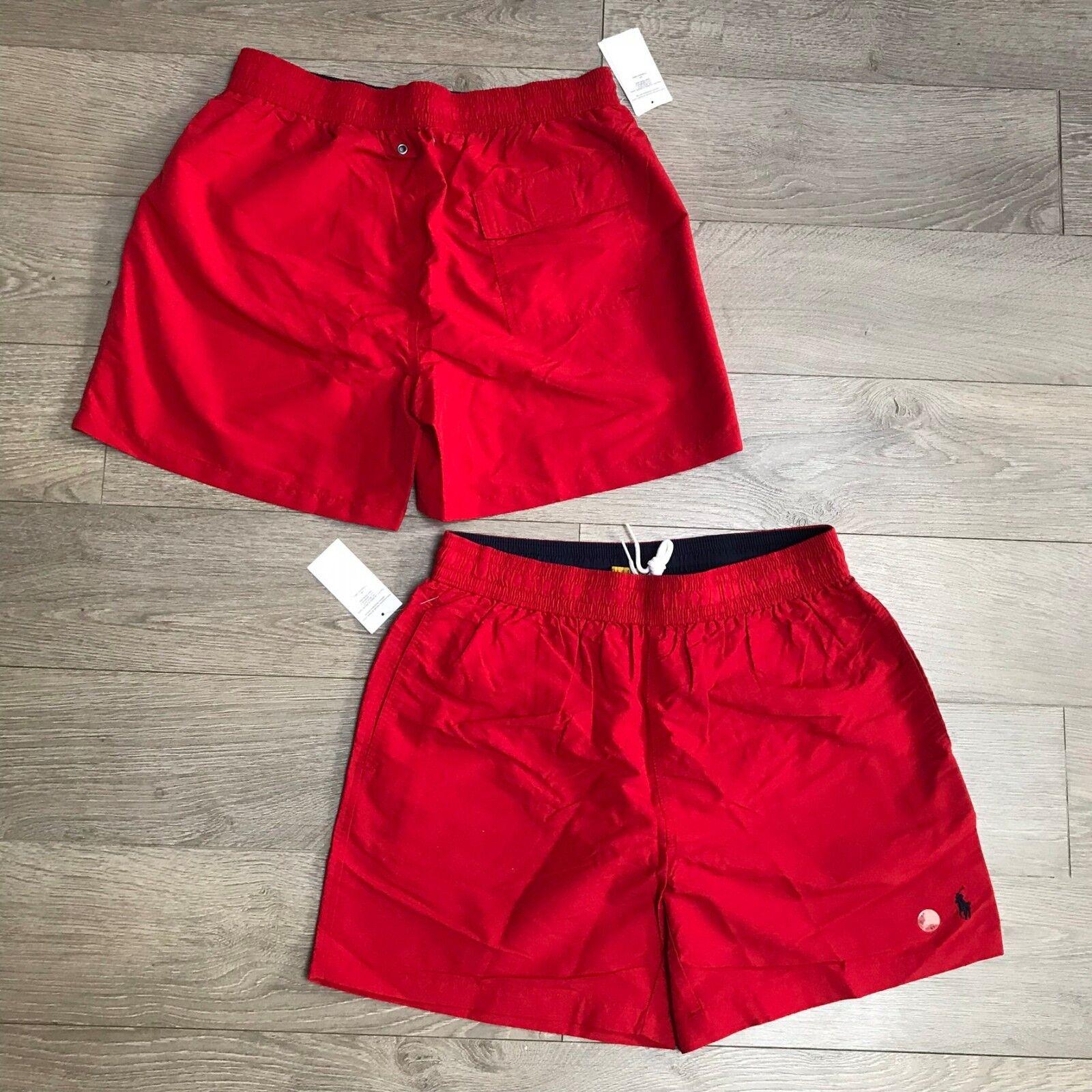 Sale RALPH LAUREN Men's Swim shorts Size S RRP  RED 100%Genuine BNWT