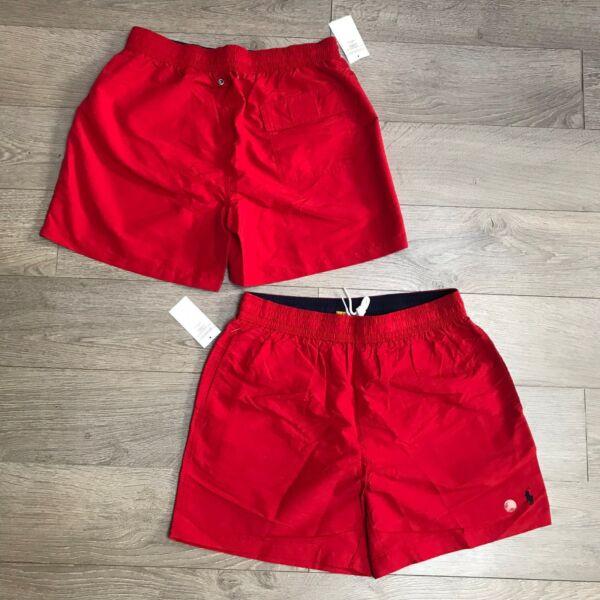 * Vendita * Ralph Lauren Men's Swim Pantaloni Corti Taglia S Prezzo Consigliato £ 65 Rosso 100% Autentico Nuovo Con Etichetta Qualità Eccellente