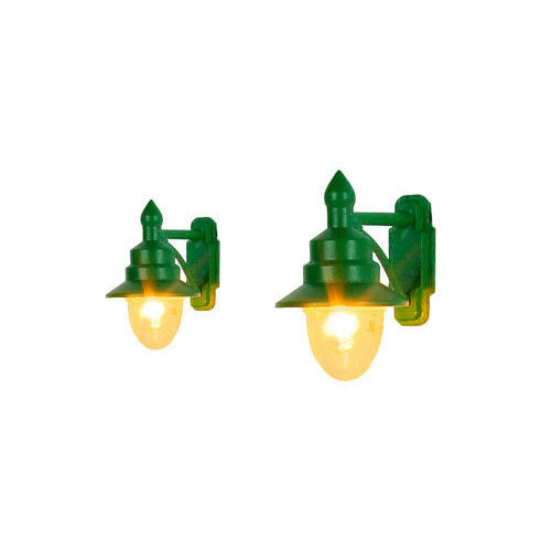 2 OO Gauge GM821 GAUGEMASTER Wall Mounted Swan Neck Lamp SR//BR Green