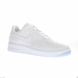 Nike Women s Air Force 1 Flyknit Low Top Running Gym Trainers White ... d078bcd636