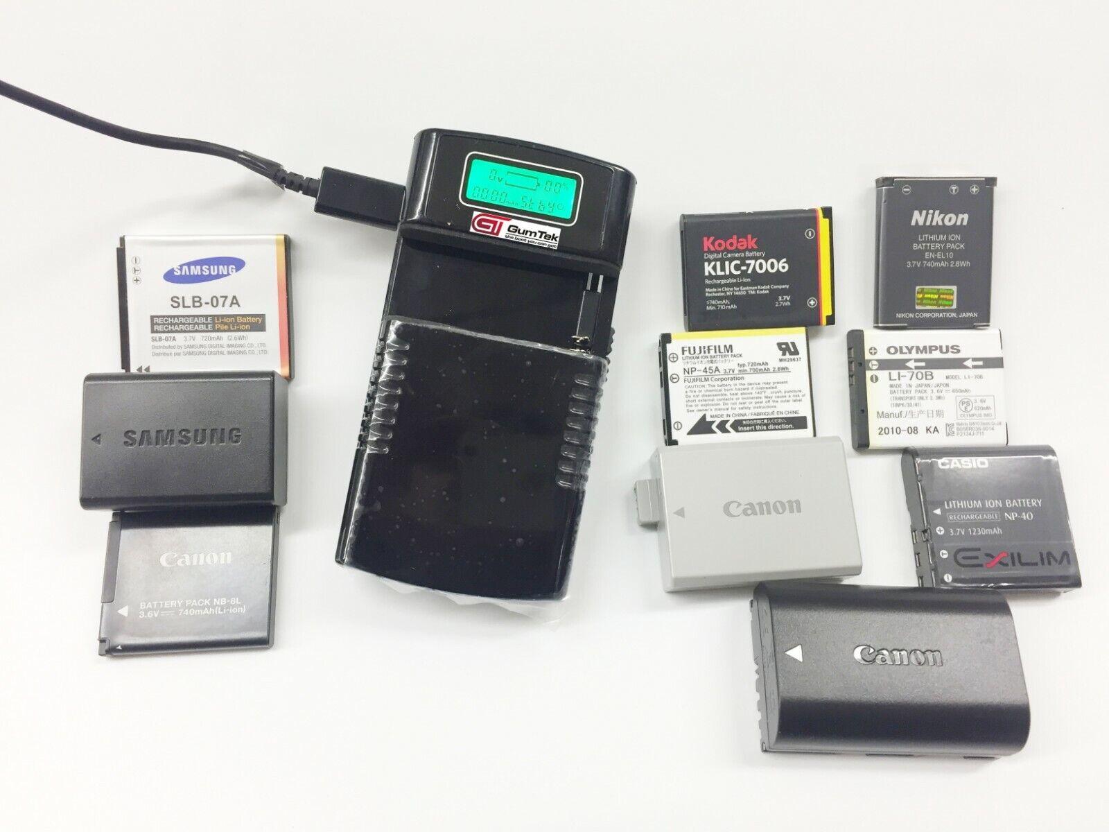 Universal Camera Battery Charger for Canon, Nikon,Sony,Samsung, Fujifilm,Olympus