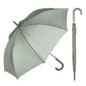 44c49f5bb Image is loading Grey-Crook-Handle-Umbrella-Automatic-Open-Walking-Stick-