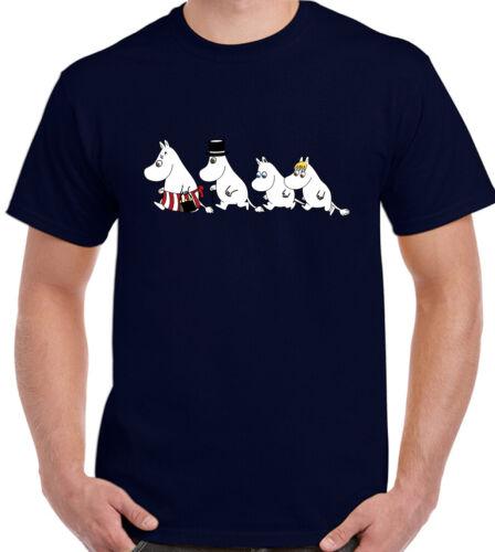 Mens MOOMIN T-SHIRT Moomintroll Family Tee Unisex Top