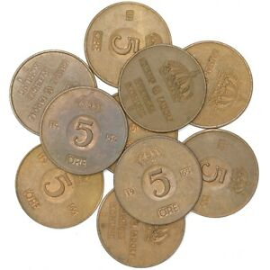 LOT-10-SWEDEN-COINS-1-ORE-5-KRONOR-SWEDISH-COINS-1952-2009