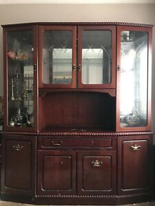 Image Is Loading Living Room Furniture Large Mahogany Wall Unit Display