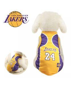 NBA Basketball Pet Puppy Dog Jersey LA Lakers Kobe Bryant 24 Sport ...