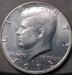 FREE SHIPPING nice coin 1971 D Kennedy Half Dollar Circulated