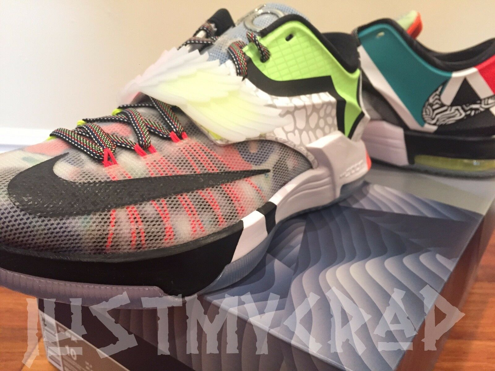 NEW ds Nike WTKD Durant 7 VII SE What the Chaussures KD Multi Color Hommes Chaussures the 10 sold out 305ce9