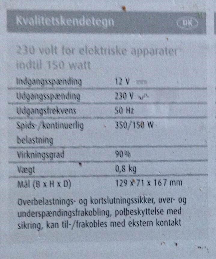 Inverter, Waeco PP152
