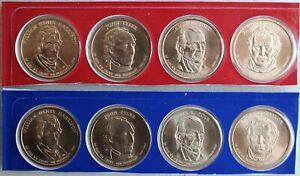 2010 Presidential $1 Uncirculated SEALED Set 8 Golden BU Dollars US Mint P/&D