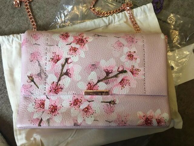 fd3faa37796 Bnwt Genuine Ted Baker Pale Pink Jayy Soft Blossom Leather Crossbody Bag  £149