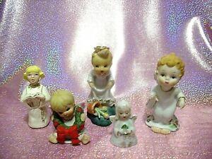 *RARE LOT 5 VTG Japan Lefton Josef Napco Christmas Angels Extravaganza Figurines