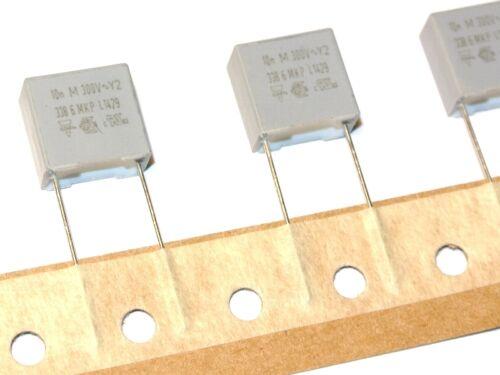 QTY=10pcs 10nF 20/% 300Vac MKP 3386 Y2 10mm BFC233868145 Capacitors VISHAY