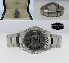 Rolex Datejust Oyster Perpetual 38mm with Custom Diamond Dial and Bezel 116234