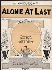 ALONE AT LAST Sheet Music 1925 R.S. ROSE SYMBOL DECO