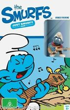 The SMURFS - Just Smurfy: Set 4 DVD+ SMURF GUITAR PLAYER FIGURINE BRAND NEW R4
