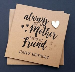 Image Is Loading Handmade Mum Birthday Card Always My Mother Forever
