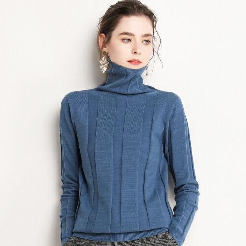 Cashmere Pullover unita Blend a Neck Turtle Tinta maglia Knit D19 lavorato Womens RTqHxUnU