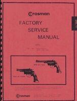 Crosman Model 38t & 38c Pellet Gun Service Manual Handbook Revolver