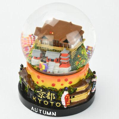 Japanese Handmade Snow Globe Kyoto Autumn Souvenir Travel Scenery Wa Gift
