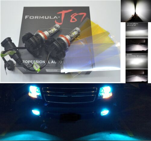 LED Kit X3 50W H11 8000K Icy Blue Two Bulbs Head Light Low Beam Replace Lamp OE