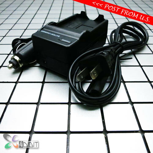 Wall Car Battery Charger for Nikon EN-EL12 ENEL12 Coolpix S6000 S610 S6100 S610C