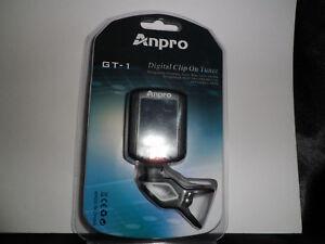 Nouveau Anpro Digital Gt-1 Clip On Tuner Pour Guitare-afficher Le Titre D'origine