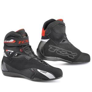 TCX-Rush-Motorcycle-Waterproof-Motorbike-Suede-Leather-Boots-Black-SALE