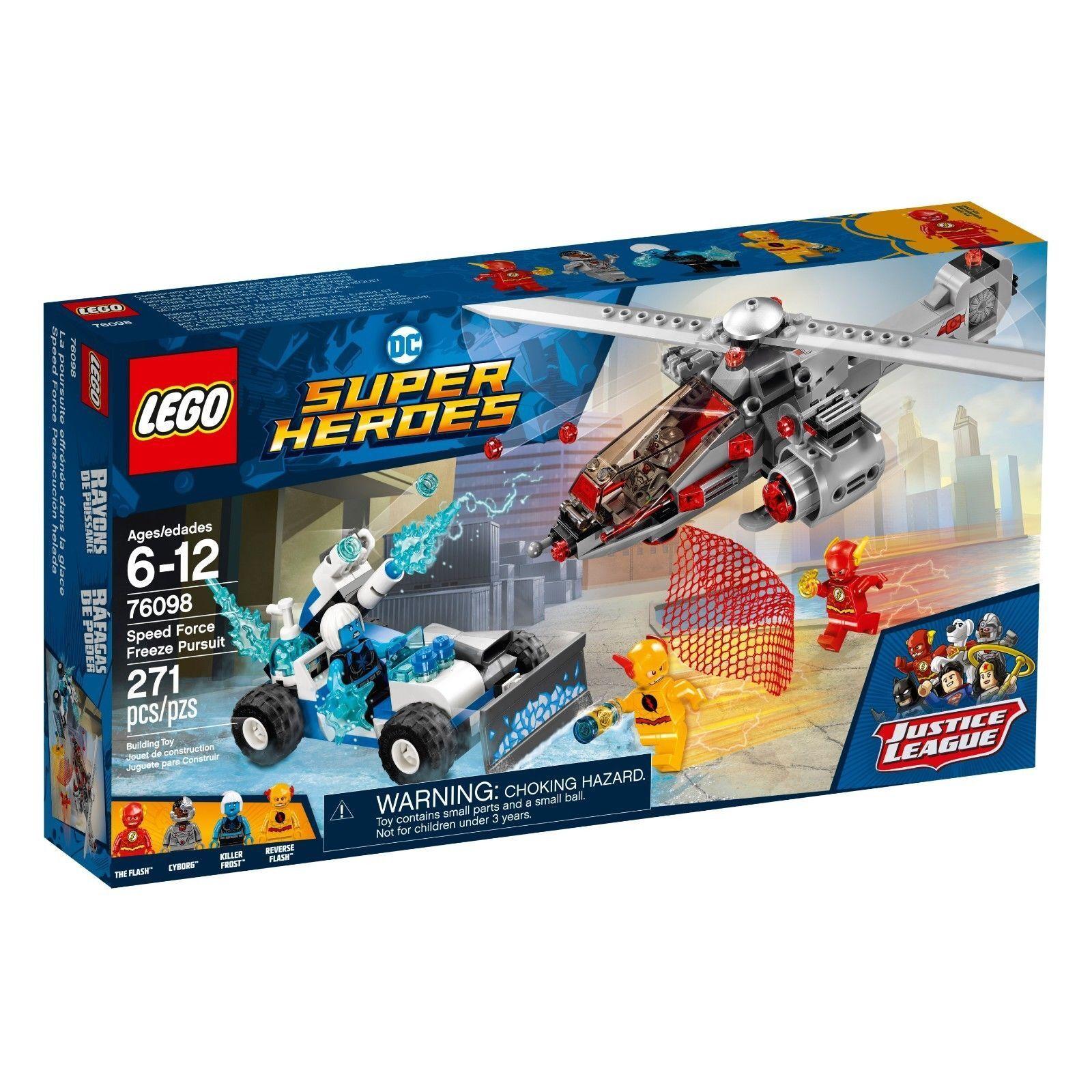 76098 SPEED FORCE FREEZE PURSUIT reverse flash lego legos set NEW cyborg FROST