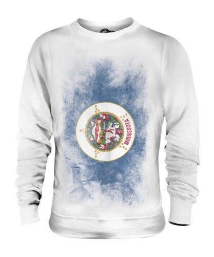 Minnesota État Décoloré Drapeau Unisexe Pull Minnesota T-Shirt Jersey Cadeau